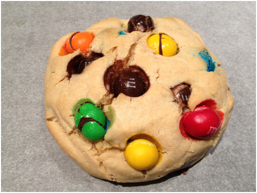 Perfectly baked peanut butter candy peanut butter cookie :D