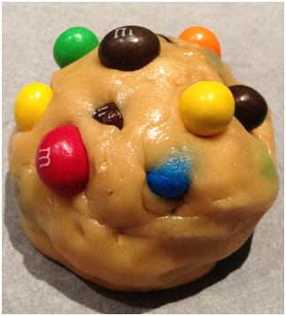A little extra love (you have no idea, how many M&Ms which were consumed during making this...)