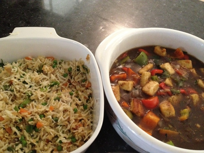 Perfect Fried Rice and Chilli Paneer :D