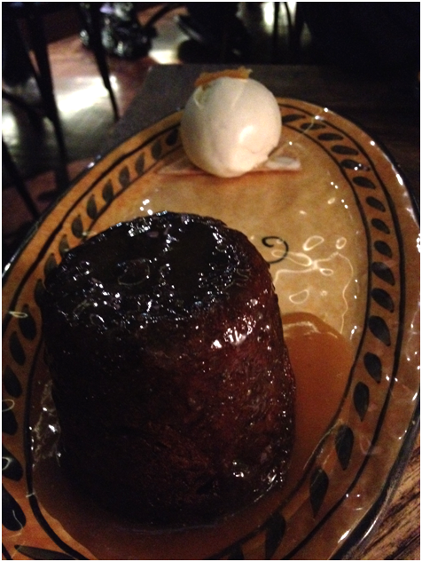 Dolci: Sticky Date ($15) - sticky date pudding glazed w/ hot butterscotch, cream & vanilla gelato