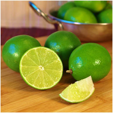 Fresh picked bright green juicy limes.  Just the right amount of sour for the dish