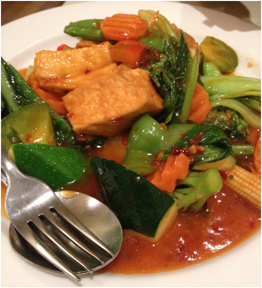 Stir Fried Mixed Vegetables w/ Tofu, Szechuan (Medium) ($14.50)