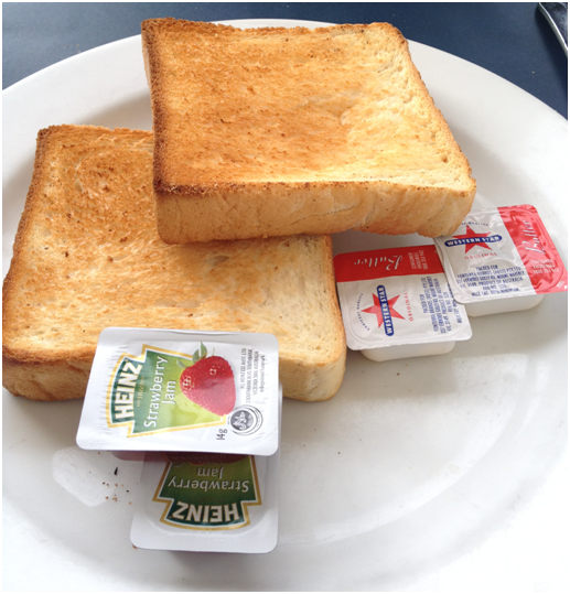 2 Slices Thick Cut Toast w/ Jam or Spread - Thick Country Style ($3.50)