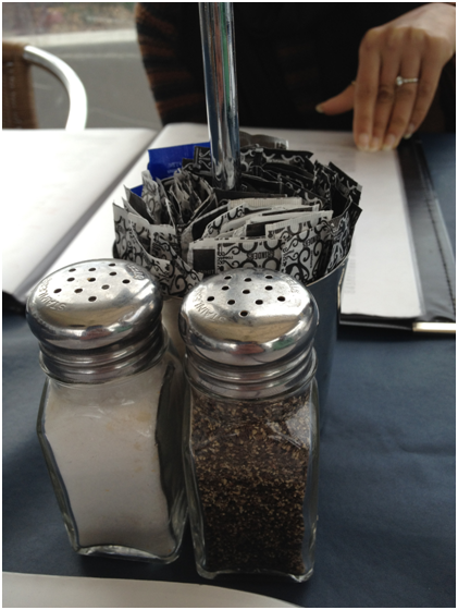 They did have salt and pepper though :D And sugar too!