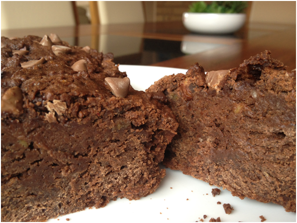 brownie banana cake 7