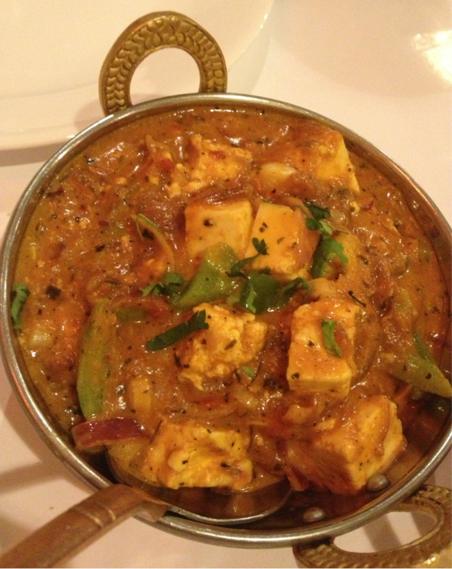 PANEER KA SALAN - Strips of paneer, capsicum, onion, tomatoes & coriander cooked with tempered with homemade spices ($13.90)