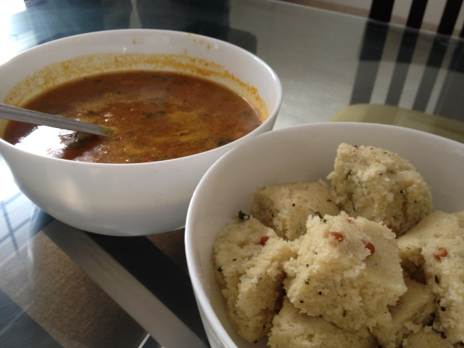 Idli Sambar - more of her breakfast magic.