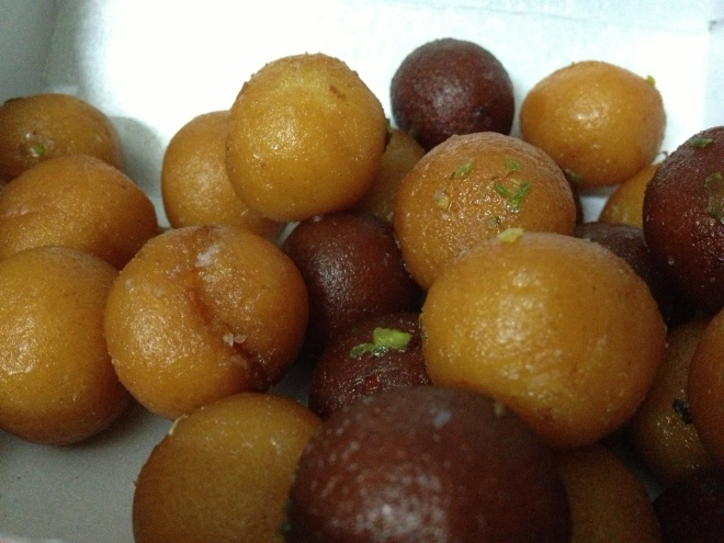 Gulab Jamun And Kala Jamun - brothers where one was a little more deep fried than the other but both equal in exceptional tastiness!