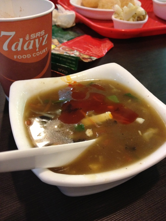 Hot & Sour Soup - More like make-you-sweat-like-a-pig soup mixed with burn-your-tongue-off soup :) - for all true spice loving curries